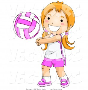 vector-of-happy-girl-playing-game-of-volleyball-by-bnp-design-studio-4262